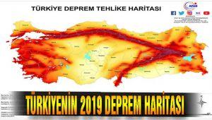 2019 Türkiye'nin Deprem Haritası ve Deprem Bölgeleri yayınlandı