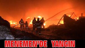 Menemen de yangın