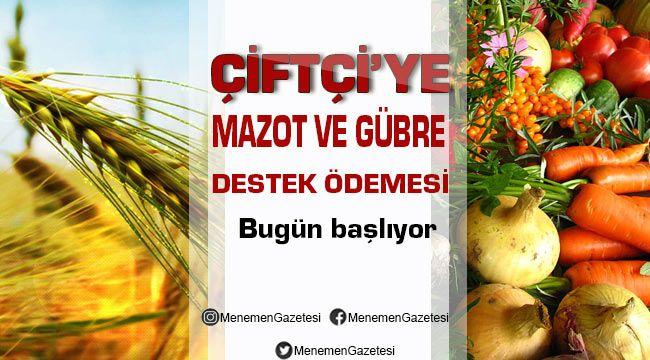 2018 Mazot ve Gübre Destek Ödemelerine bugün Başlanacak