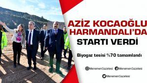 Aziz Kocaoğlu Harmandalı'da Biyogaz Tesisi Startını Verdi