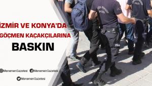İzmir'de Göçmen Kaçakçılarına Baskın