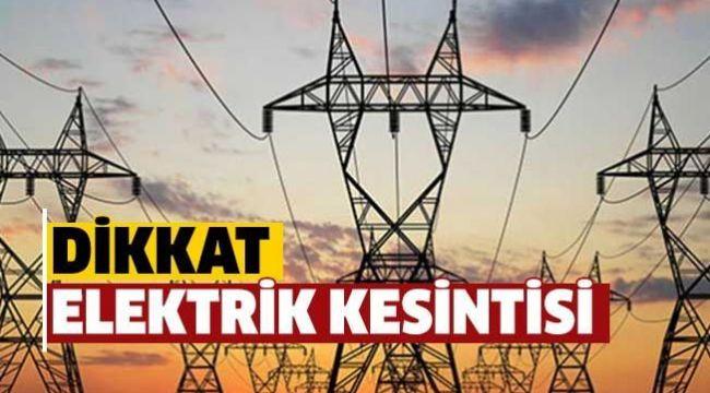 Menemen de Elektrik Kesintisi