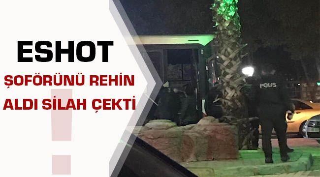 Menemende Vatandaş Eshot Otobüsünü Rehin Aldı