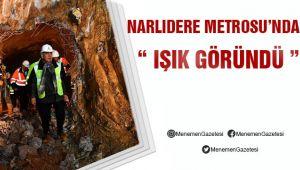 Narlıdere Metrosu'nda Çalışmalar Hız Kesmeden Devam Ediyor