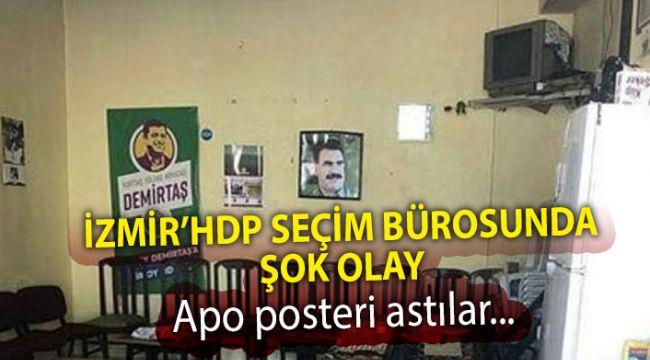 İzmir'de Hdp Seçim Ofisinde Apo Posteri Bulundu Baskın Düzenlendi