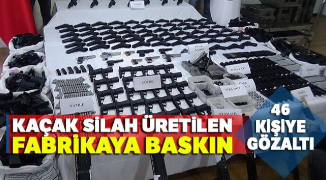 İzmir'de Kaçak Silah Üreten Fabrikaya Baskın Düzenlendi