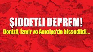 İzmirde Arka Arkaya Depremler meydana Geldi