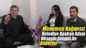 Menemen Bağımsız Belediye Başkan Adayı Hüseyin Şengül Röportajı