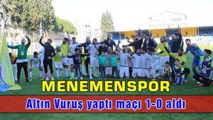 Menemenspor - Kırklarelispor: 1-0 Altın Vuruş ve Gelen Galibiyet