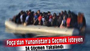 Foça'dan Yunanistan'a Kaçmak İsteyen Göçmenler Yakalandı