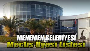 Menemen Belediyesi Meclis Üyelerinin Kesinleşen Listesi