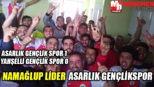 Menemen'in Amatör Kulüklerinden Asarlık Gençlikspor ile Yahşelli Gençlikspor'un Maçı 1-0 bitti