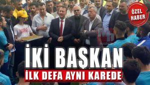 Serdar Aksoy ve Tahir Şahin Aynı Karede
