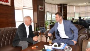 Disk Temsilcisi Başkan Aksoy'u Ziyaret Etti