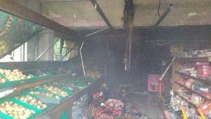 Markette Çıkan Yangın Büyümeden Söndürüldü
