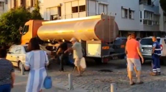 Foça'da sular kesildi halk sefil oldu