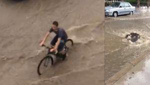 İzmir'de şiddetli yağmur etkili oldu