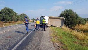 Tire'de trafik kazası ! 1 ölü 1 Yaralı