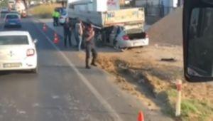 Menemen'de Trafik kazası 1 kişi ağır yaralı