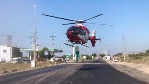 Yola Ambulans Helikopter İndi