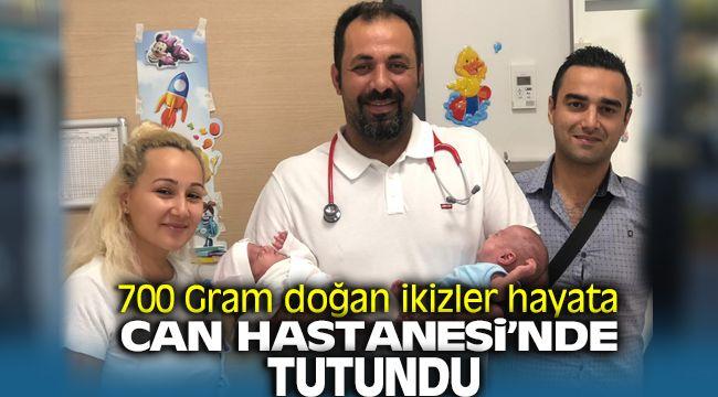700 gr doğan ikizler hayata İzmir Özel Can Hastanesi'nde tutundu