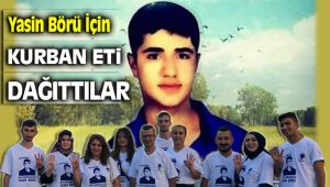 AK Partili Gençler Yasin Börü İçin Kurban Dağıttılar