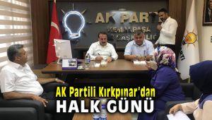 AK Partili Kırkpınar'dan halk günü programı