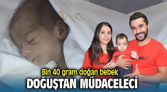 Bir kilo olarak dünyaya gelen doğuştan mücadeleci bebek