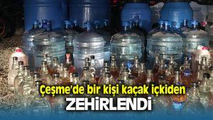 Çeşme'de Kaçak İçki Yüzünden 1 Kişi Zehirlendi