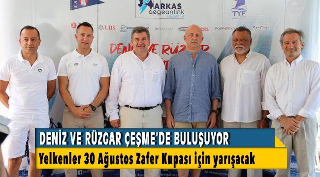 Deniz ve rüzgar Çeşme'de buluşuyor, Yelkenler 30 Ağustos Zafer Kupası için yarışacak