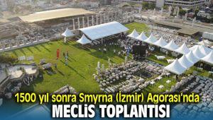 İzmir Büyükşehir Belediyesi Meclis toplantısı antik Smyrna (İzmir) Agorası'nda yapıldı
