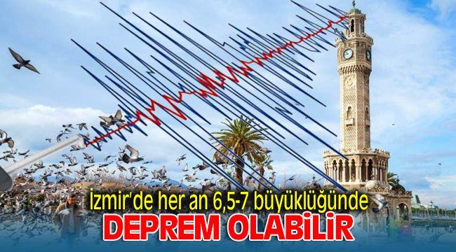İzmir'de Her An 6.5 - 7 Büyüklüğünde Depremler Olabilir
