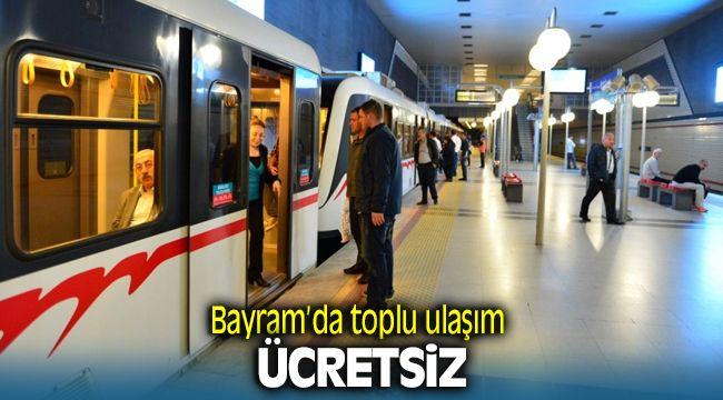 İzmir'de Toplu Ulaşım Bayramda Ücretsiz
