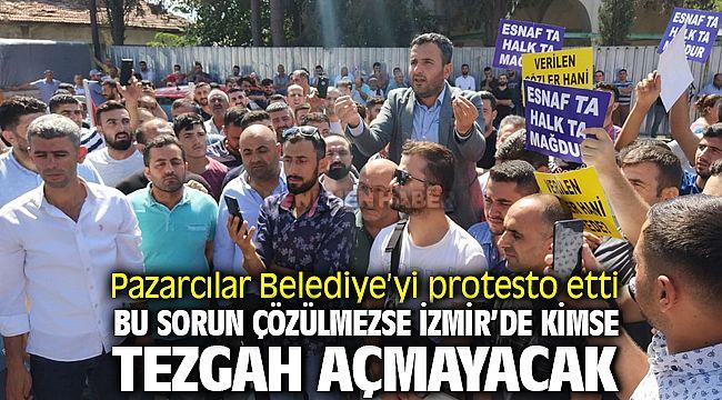 İzmir Menemen'de Pazar Sorunu Giderek Büyüyor, Pazarcılar Tezgah Açmadı