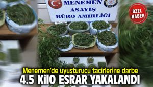 Menemen'de Uyuşturucu Satıcılarına Büyük Darbe