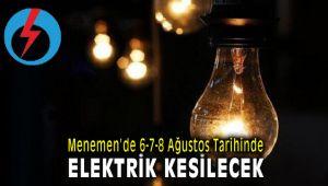 Menemen Elektrik Kesintisi