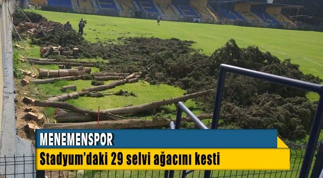 Menemenspor Ağaç Katliamı iddialarına Belge Sundu