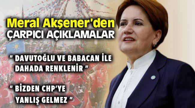 Meral Akşener Davutoğlu ve Babacan Hakkında Açıklamalarda Bulundu
