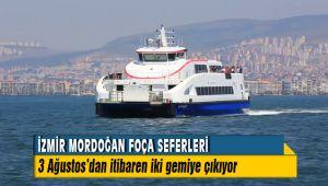 Mordoğan Foça seferleri yarından itibaren iki gemiye çıkıyor