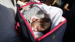 15 günlük Fatma bebeği sahil güvenlik kurtardı