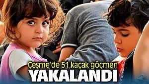Çeşme'de 51 kaçak göçmen yakalandı