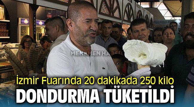 İzmir'de 20 dakikada 250 kilo dondurma tükendi