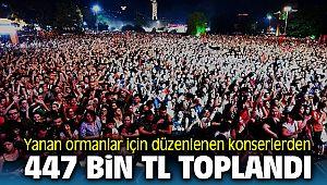 İzmir'de yanan ormanlar için düzenlenen konserden 477 bin lira toplandı