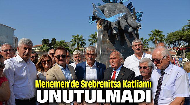 """Menemen'de  """"Srebrenitsa Katliamı"""" unutulmadı"""