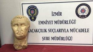 Tarihi eser operasyonu: 2 bin 100 yıllık heykel başı ele geçirildi