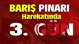 Barış Pınarı Harekatı 3. Gün Havadan ve Karadan Terör Örgütü Vuruluyor