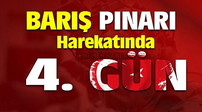 Barış Pınarı Harekatı 4. Gün Etkisiz hale getirilen terörist sayısı 480 oldu
