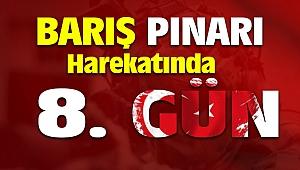 Barış Pınarı Harekatı 8. Gün 653 Terörist Etkisiz Hale Getirildi