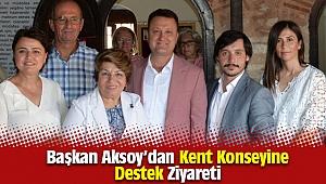 Başkan Aksoy'dan Kent Konseyine Destek Ziyareti