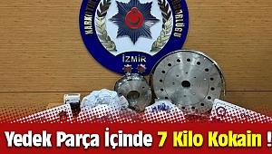 İzmir'de Yedek Parça İçerisine Gizlenmiş 7 Kilo Kokain Yakalandı